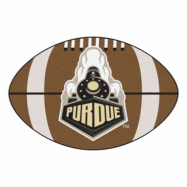 Purdue Football Shaped Rug