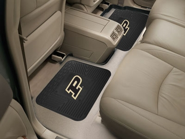 Purdue SET OF 2 Heavy Duty Vinyl Rear Car Mats
