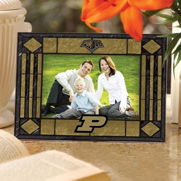 Purdue Landscape Art Glass Picture Frame