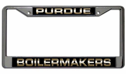 Purdue Laser Etched Chrome License Plate Frame