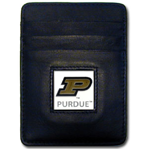 Purdue Leather Money Clip (F)