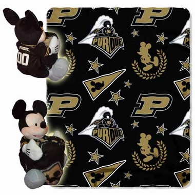 Purdue Mickey Mouse Pillow / Throw Combo