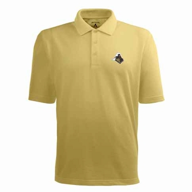 Purdue Mens Pique Xtra Lite Polo Shirt (Alternate Color: Gold)