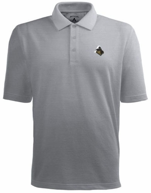 Purdue Mens Pique Xtra Lite Polo Shirt (Color: Gray)