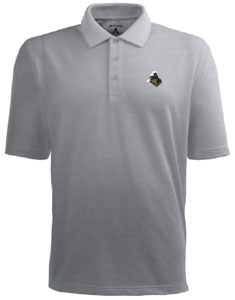 Purdue Mens Pique Xtra Lite Polo Shirt (Color: Gray) - Medium