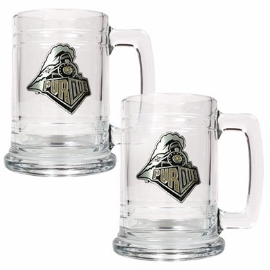 Purdue Set of 2 15 oz. Tankards