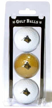Purdue Set of 3 Multicolor Golf Balls