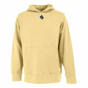 Purdue Mens Signature Hooded Sweatshirt (Color: Gold) - Large