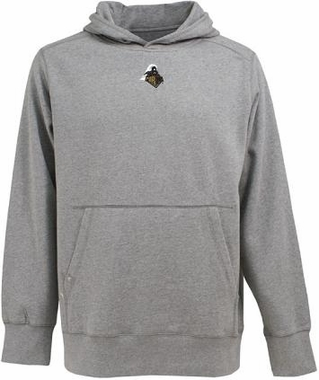 Purdue Mens Signature Hooded Sweatshirt (Color: Gray)