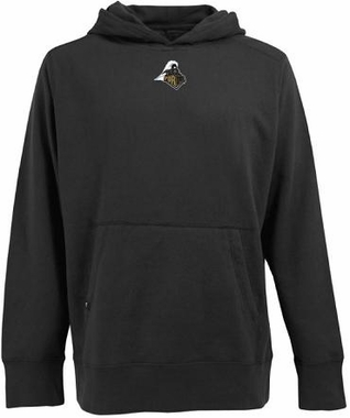 Purdue Mens Signature Hooded Sweatshirt (Color: Black)