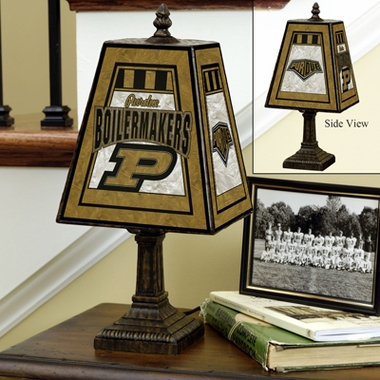 Purdue Small Art Glass Lamp