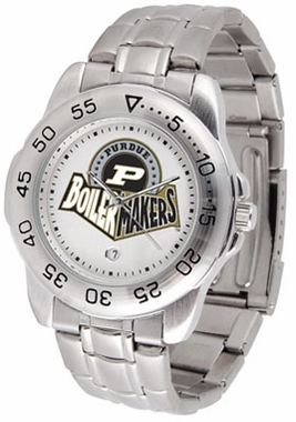 Purdue Sport Men's Steel Band Watch