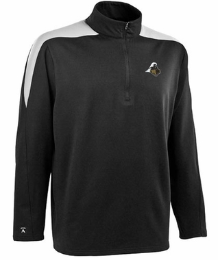Purdue Mens Succeed 1/4 Zip Performance Pullover (Team Color: Black)