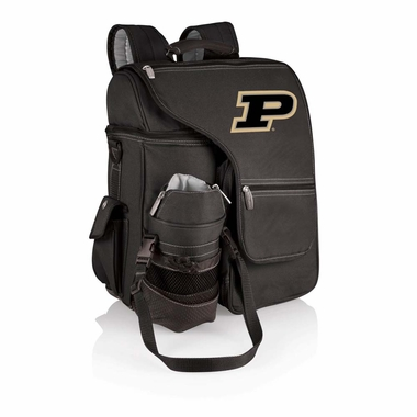 Purdue Turismo Embroidered Backpack (Black)