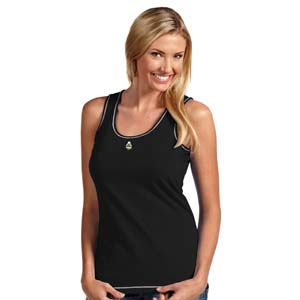 Purdue Womens Sport Tank Top (Team Color: Black) - Large