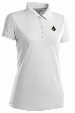 Purdue Womens Pique Xtra Lite Polo Shirt (Color: White)