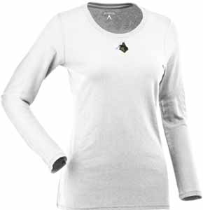 Purdue Womens Relax Long Sleeve Tee (Color: White) - Large
