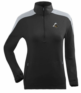 Purdue Womens Succeed 1/4 Zip Performance Pullover (Team Color: Black)