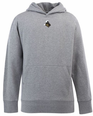Purdue YOUTH Boys Signature Hooded Sweatshirt (Color: Gray)