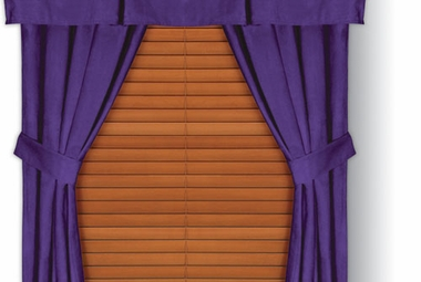 Purple Microsuede Drapes (Pair)