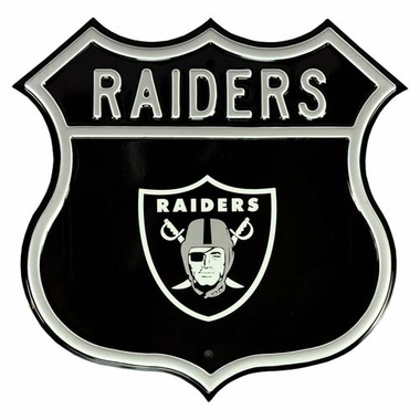 Raiders W Raiders Logo Street Sign