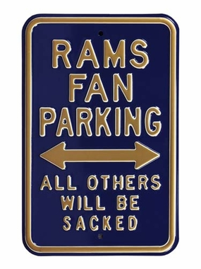 Rams Sacked Parking Sign