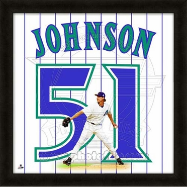 "Randy Johnson, DBacks UNIFRAME 20"" x 20"""