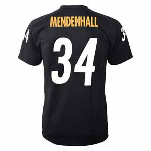 Rashard Mendenhall YOUTH Pittsburgh Steelers # 34 Performance Jersey T-shirt - Small