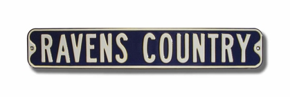 Ravens Country Street Sign