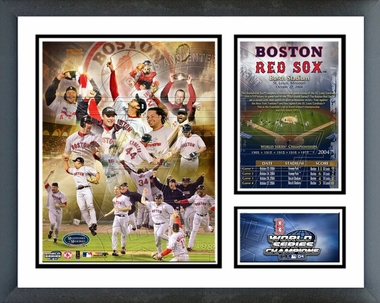 Red Sox - 2004 World Series Champions - Composite - Framed Milestones & Memories