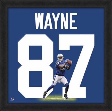 "Reggie Wayne, Colts UNIFRAME 20"" x 20"""