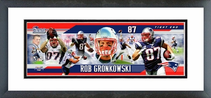 Rob Gronkowski 2012 Framed / Double Matted Photoramic
