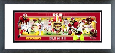 Robert Griffin III 2012 Framed / Double Matted Photoramic
