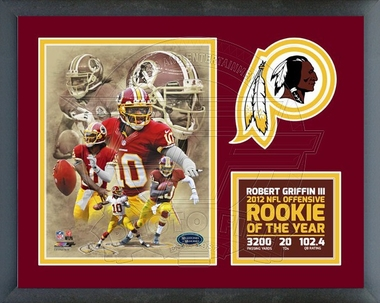 Robert Griffin III 2012 NFL Offensive Rookie of the year Framed Milestones & Memories