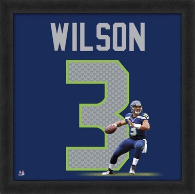 "Russell Wilson, Seahawks UNIFRAME 20"" x 20"""