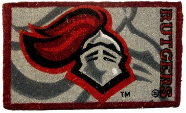 Rutgers 18x30 Bleached Welcome Mat
