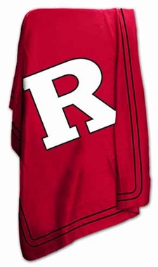 Rutgers Classic Fleece Throw Blanket