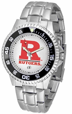 Rutgers Competitor Men's Steel Band Watch