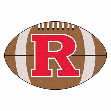 Rutgers Football Shaped Rug