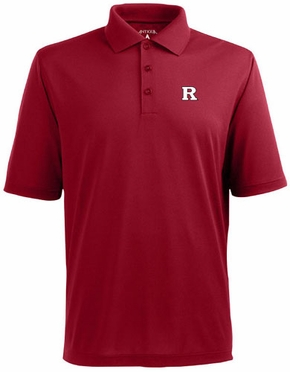 Rutgers Mens Pique Xtra Lite Polo Shirt (Team Color: Red)