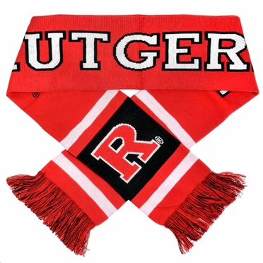 Rutgers Scarlet Knights 2012 Team Stripe Knit Scarf