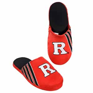 Rutgers Scarlet Knights 2012 Team Stripe Logo Slippers - Large