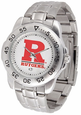 Rutgers Sport Men's Steel Band Watch