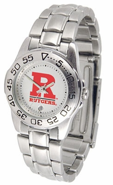 Rutgers Sport Women's Steel Band Watch