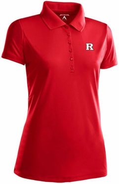 Rutgers Womens Pique Xtra Lite Polo Shirt (Team Color: Red)