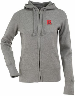 Rutgers Womens Zip Front Hoody Sweatshirt (Color: Gray)
