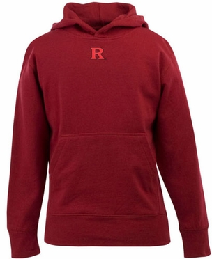 Rutgers YOUTH Boys Signature Hooded Sweatshirt (Team Color: Red)