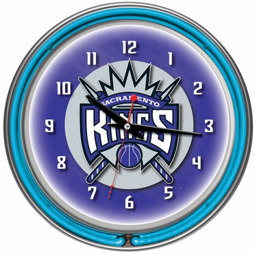 Sacramento Kings 14 Inch Neon Clock
