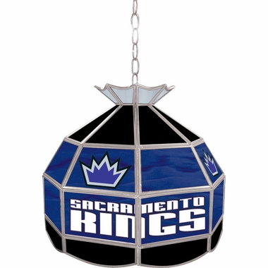 Sacramento Kings 16 Inch Diameter Stained Glass Pub Light