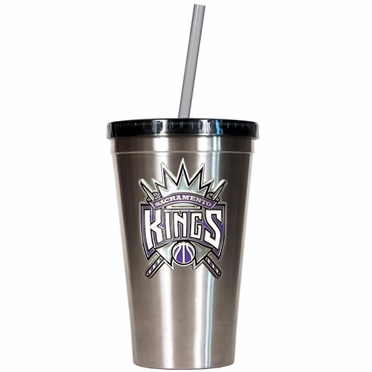 Sacramento Kings 16oz Stainless Steel Insulated Tumbler with Straw